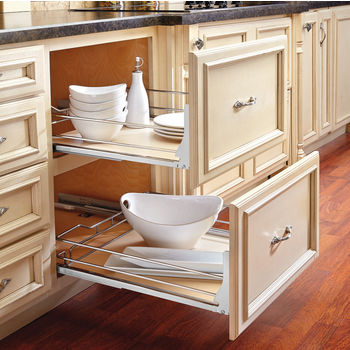 Rev A Shelf Premiere Maple Pullout Basket For Kitchen Base