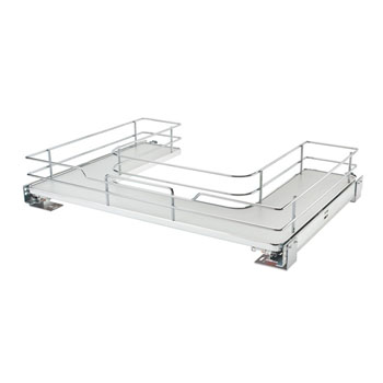 Rev-A-Shelf Undersink Pullout U-Shaped Wire Basket Shelf