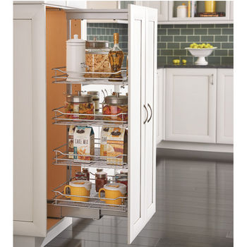 Rev-A-Shelf Pantry Pullout with 4 Baskets with Chrome Wire