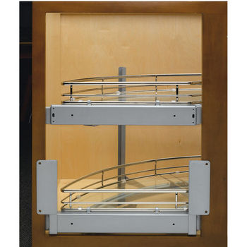 Maple 2 Tray Door Mount Curve for Blind