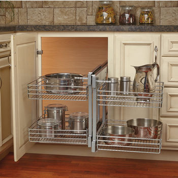 Rev A Shelf Kitchen Blind Corner Cabinet Optimizer 32 1 4 W X 20 D 21 H Min Cab Opening 18