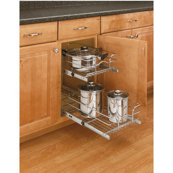 Rev A Shelf Pair Of Kitchen Cabinet Pull Out Baskets, Chrome, Different  Sizes Available