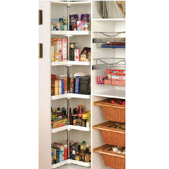 Kidney Shaped Pantry Set for 90 Degree Corner Pantry