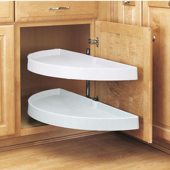 Kitchen Cabinet Accessories Blind Corner half-round lazy susans for kitchen cabinets - buy built in wood