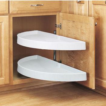 Half Round Lazy Susans For Kitchen Cabinets Buy Built In Wood Metal Plastic Lazy Susans Kitchensource Com