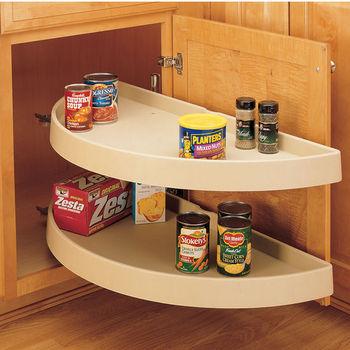Half Round Lazy Susans For Kitchen Cabinets   Buy Built In Wood, Metal U0026  Plastic Lazy Susans   KitchenSource.com