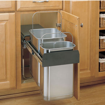 Rev A Shelf Stainless Steel Sink Base
