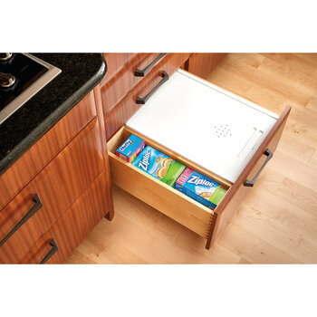 Rev A Shelf Bread Drawer Cover Kit In White Or Almond Two Sizes Available
