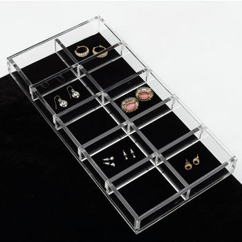 Rev-A-Shelf Clear Acrylic Earring Jewelry Organizer