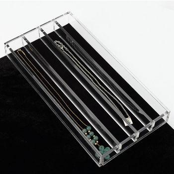Rev-A-Shelf Clear Acrylic Necklace Jewelry Organizer