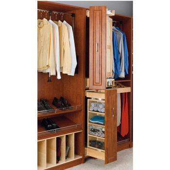 Rev-A-Shelf Pivoting Armoire Storage Organizer with Mirror