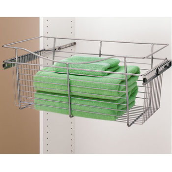 Rev A Shelf Closet Or Kitchen Cabinet Heavy Gauge Pull Out Wire Basket Chrome 12 D X 11 H Also Available In Other