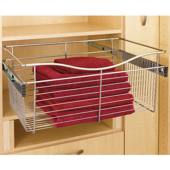Rev A Shelf Closet Or Kitchen Cabinet Pull Out Heavy Gauge Wire Basket Chrome 20 D X 11 H Also Available In Other