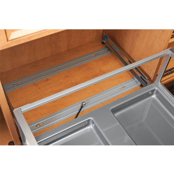 Rev-A-Shelf Double Wire Hamper with Rev-A-Motion