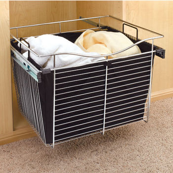 Rev-A-Shelf Closet Hamper Bag Insert for CB Series Pull Out Wire Baskets in Black Canvas