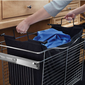 Rev A Shelf Closet Hamper Bag Insert For Cb Series Pull Out Wire Baskets In Black Canvas