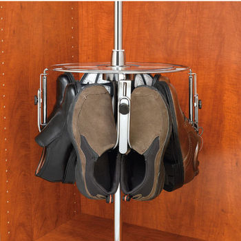 Rev-A-Shelf Men's Additional Tier, Holds up to 4 Pairs, Chrome