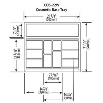 Vanity Cosmetic Drawer Organizer Base Tray