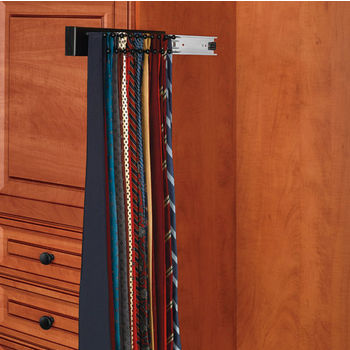 Maple Tie Rack, Side Mount, Black
