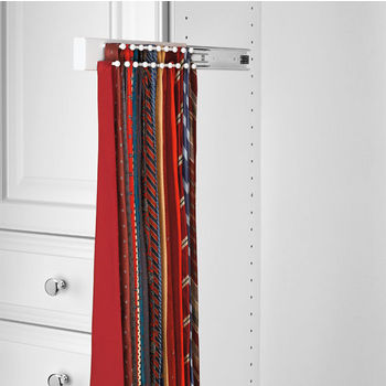 Maple Tie Rack, Side Mount, White