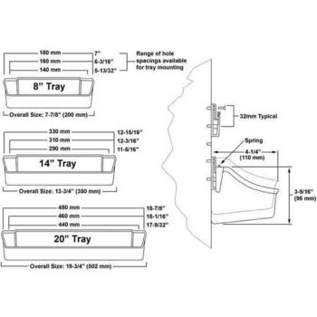 Door Storage Shelf Technical Specifications