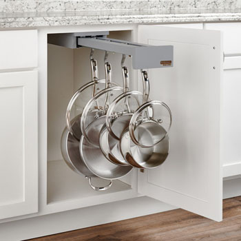 """Glideware"" Pull-Out Base Cabinet Organizer With Blum Tandem Blumotion Soft Close Slides by Rev-A-Shelf"