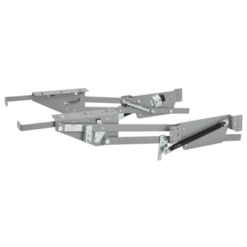 Rev-A-Shelf Heavy Duty Kitchen Appliance Lift Kit, Soft Close Silver Mechanism with Maple Shelf