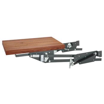 Rev-A-Shelf Heavy Duty Kitchen Appliance Lift Kit, Soft Close Orion Gray Mechanism with Walnut Shelf