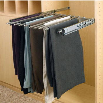 Chrome Pull-Out Pants Rack