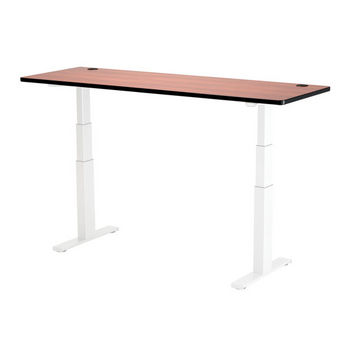 """Safco Top for Electric Height-Adjustable Table, 72"""" x 24"""", Cherry"""