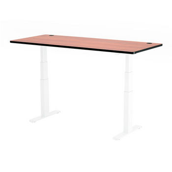 """Safco Top for Electric Height-Adjustable Table, 72"""" x 30"""", Cherry"""