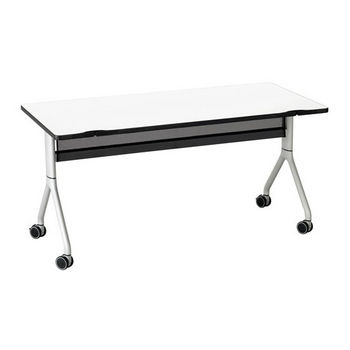 "Safco Rumba™ Rectangle Table, 60"" x 30"", Designer White Top/Metallic Gray Base"