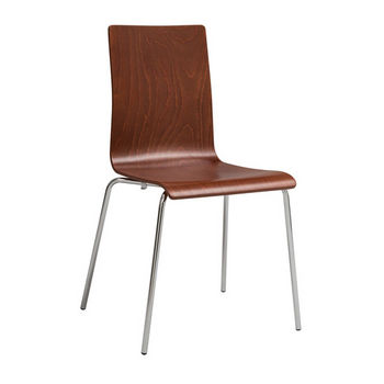 Safco Bosk™ Wood Stack Chair, Cherry, Pair