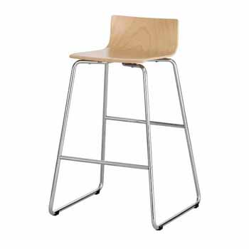 """Safco Bosk® Bistro Height Stool, Beech, 20-3/4""""W x 20-1/2""""D x 35""""H"""