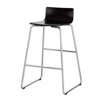 """Safco Bosk® Bistro Height Stool, Espresso, 20-3/4""""W x 20-1/2""""D x 35""""H"""