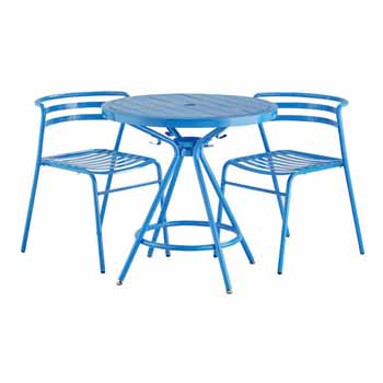 Blue with Chairs
