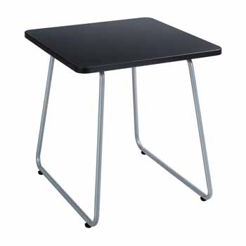 """Safco Anywhere End Table, Silver Base, 20""""W x 20""""D x 19-1/2""""H"""