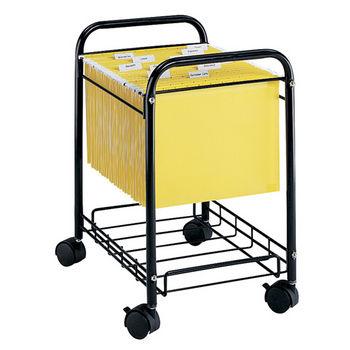 """Safco Mobile Desk Side File Cart, Black, 17-1/2""""W x 13""""D x 22""""H"""
