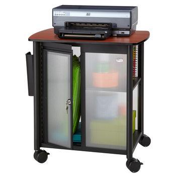 "Safco Impromptu® Personal Mobile Storage Center Cart, Black, 25-1/4""W x 17-1/4""D x 26-3/4""H"