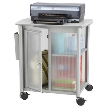 """Safco Impromptu® Personal Mobile Storage Center Cart, Gray, 25-1/4""""W x 17-1/4""""D x 26-3/4""""H"""