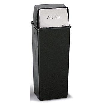 Safco® 21-Gallon Push Top Trash Can