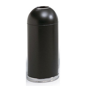 Safco® 15-Gallon Open Dome Top Trash Can w/ Steel Liner