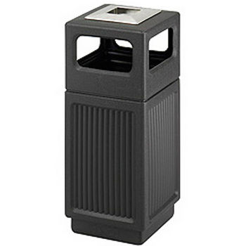 Safco® CanMeleon™ 15-Gallon Side Opening Outdoor Trash Can w/ Urn