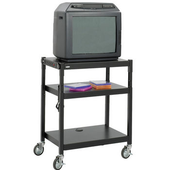 Safco Steel Adjustable-Height AV Cart