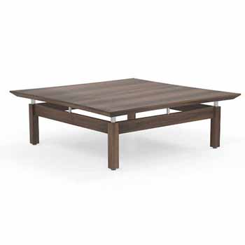"""Safco Sterling Coffee Table, Textured Brown Sugar Laminate, 48""""W x 48""""D x 16""""H"""
