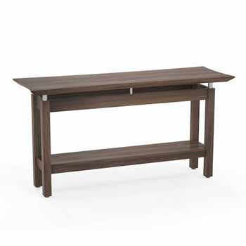 """Safco Sterling Sofa Table, Textured Brown Sugar Laminate, 58""""W x 19""""D x 30""""H"""