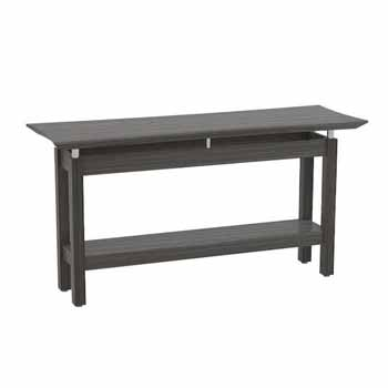 """Safco Sterling Sofa Table, Textured Driftwood Laminate, 58""""W x 19""""D x 30""""H"""