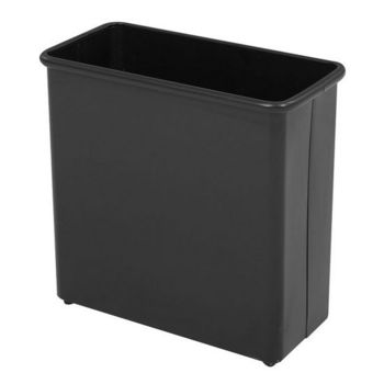 Safco ® Medium Rectangular Wastebasket, Powder Coated Black, 7 Gallon, Set of 3