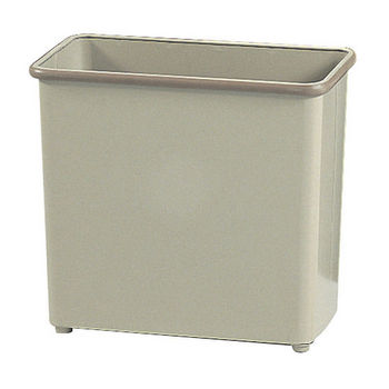 Safco ® Medium Rectangular Wastebasket, Powder Coated Sand, 7 Gallon, Set of 3
