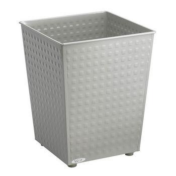 Safco ® Checks Wastebasket, Powder Coated Gray, 6 Gallon, Set of 3